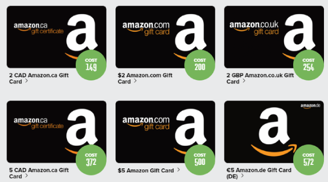 Prizerebel Amazon Giftcard