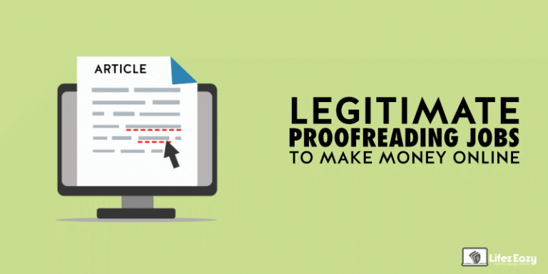 Legitimate Proofreading Jobs Online That Pays