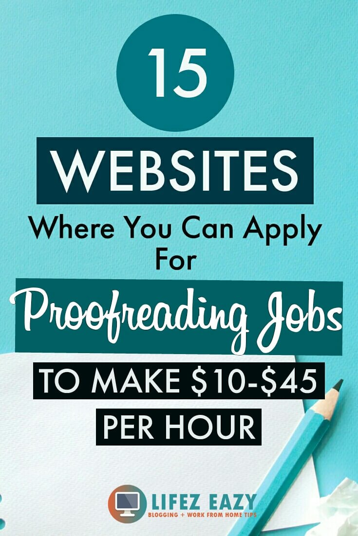 Pinterest pin for Proofreading jobs