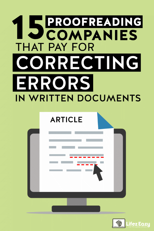 Legitimate Proofreading Jobs Online That Pays Pin