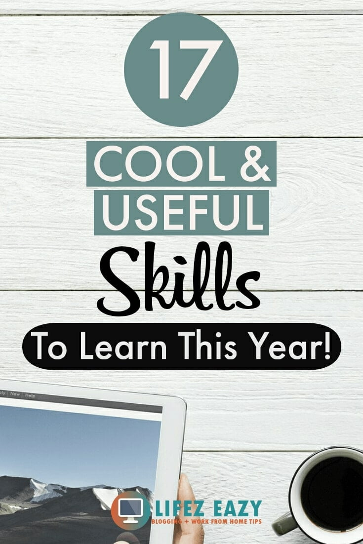 Pinterest pin for skills to learn blog post