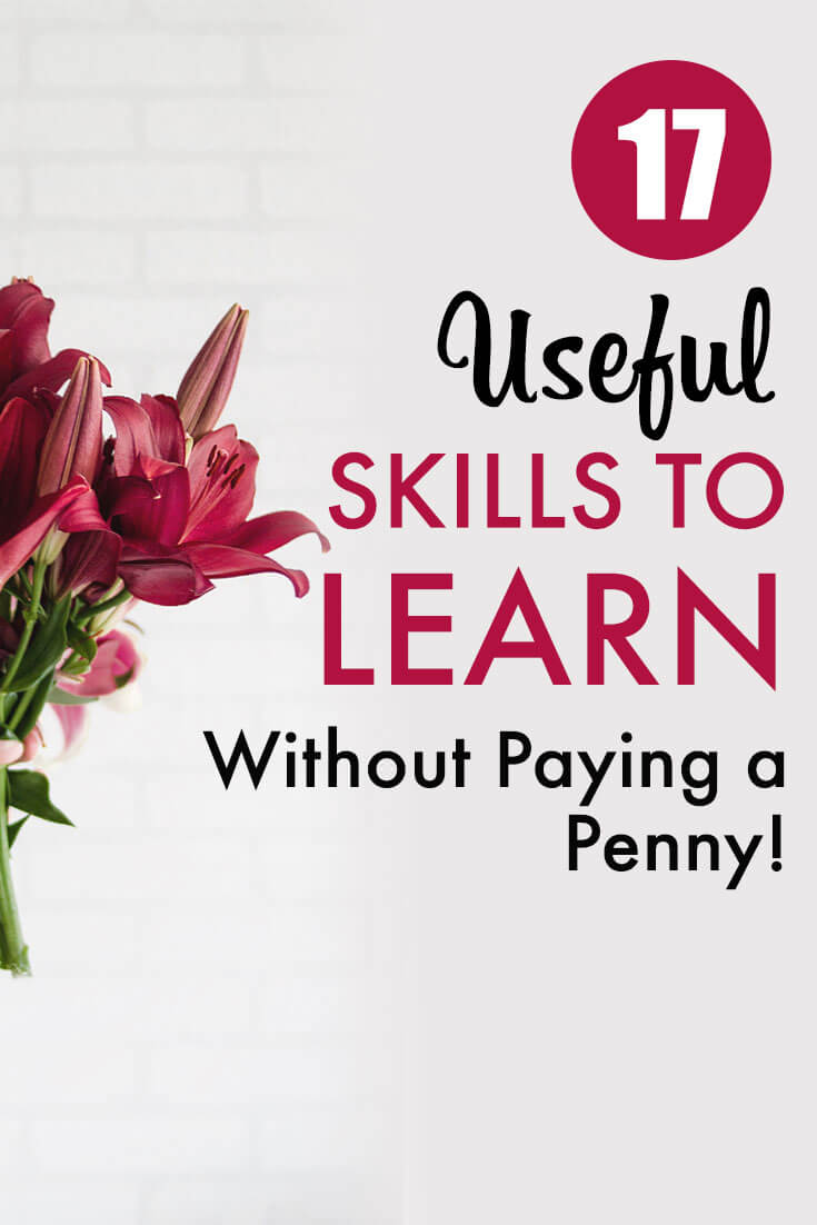 Skills to learn Pinterest pin