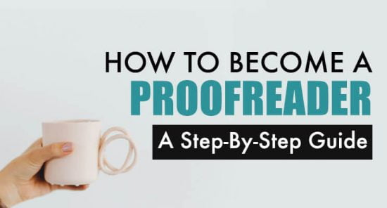 Become a proofreader cover