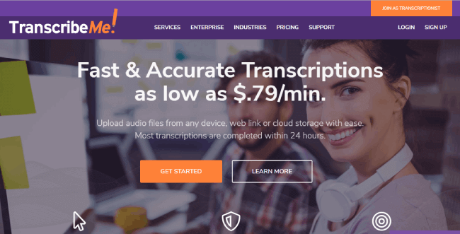 Transcribeme website