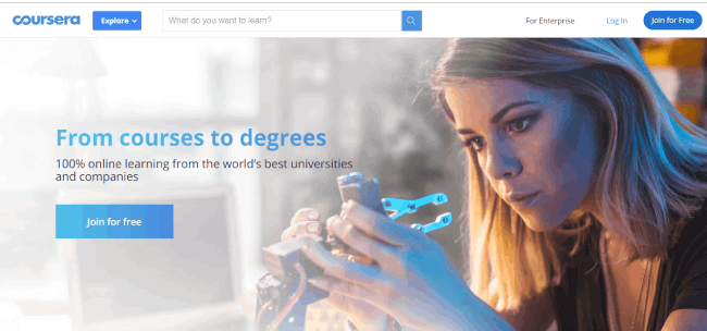 Coursera website