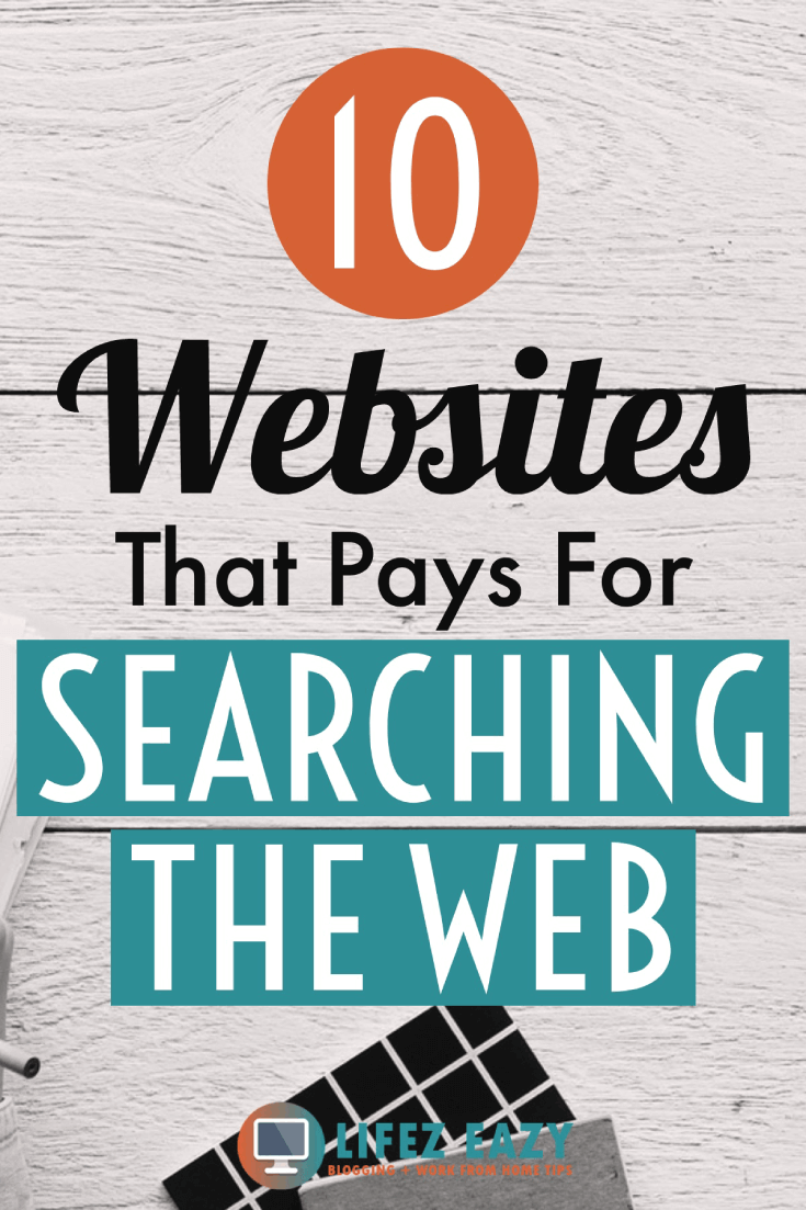 Get paid for searching the web Pinterest pin