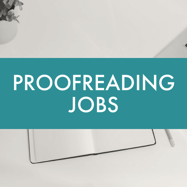 Proofreading Jobs banner