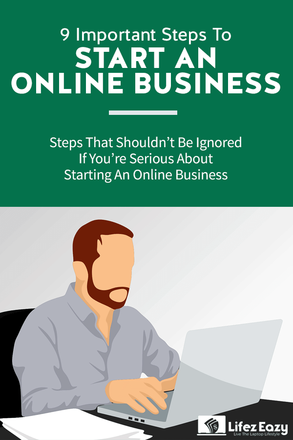 Start an online business pin