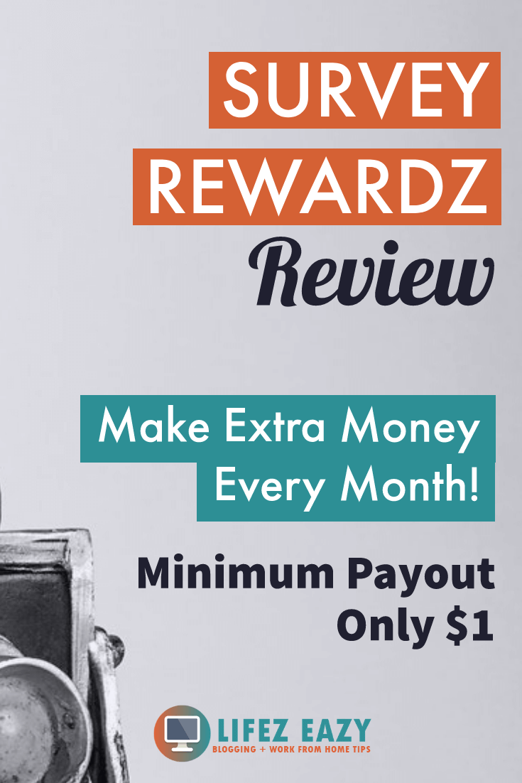 Pinterest pin for Survey Rewardz Review post
