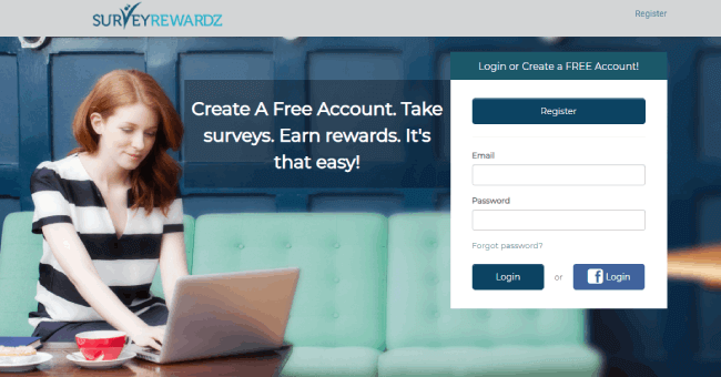 Survey Rewardz website