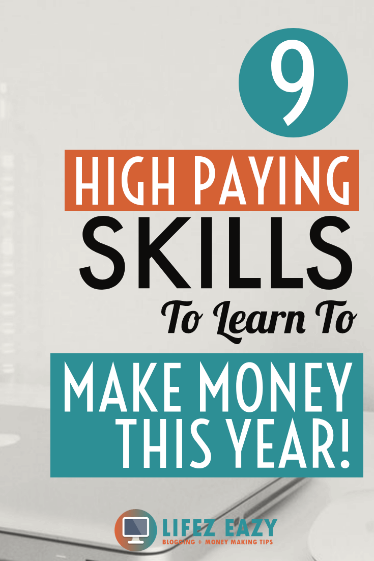 Pinterest pin for Skills to learn to make money