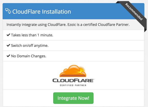 Cloudflare Installation tab