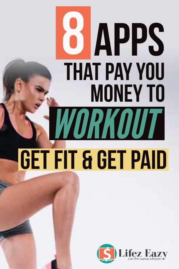 Apps that pay you to exercise Pinterest pin
