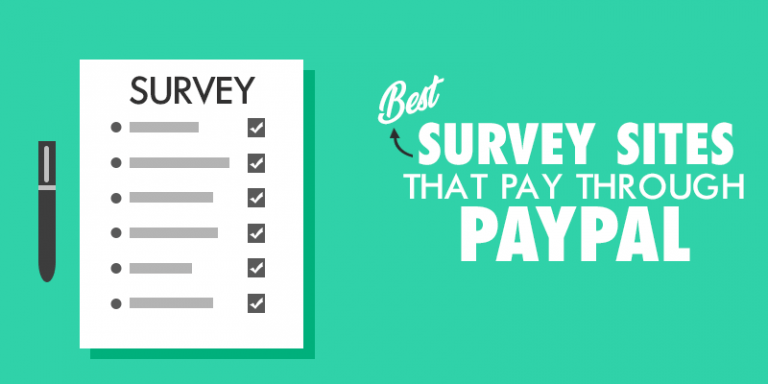 High Paying survey sites that pay through PayPal