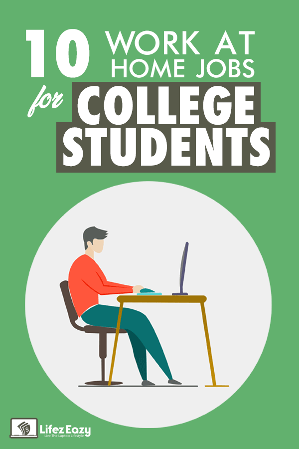 Work at home jobs for College students Pin