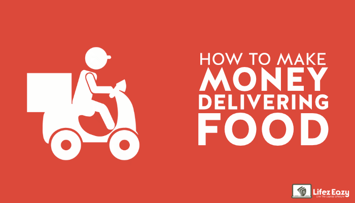 Make money delivering food Pinterest pin
