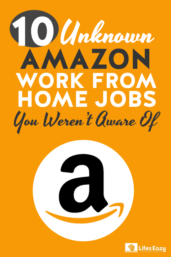 Amazon Work From Home Jobs Pin