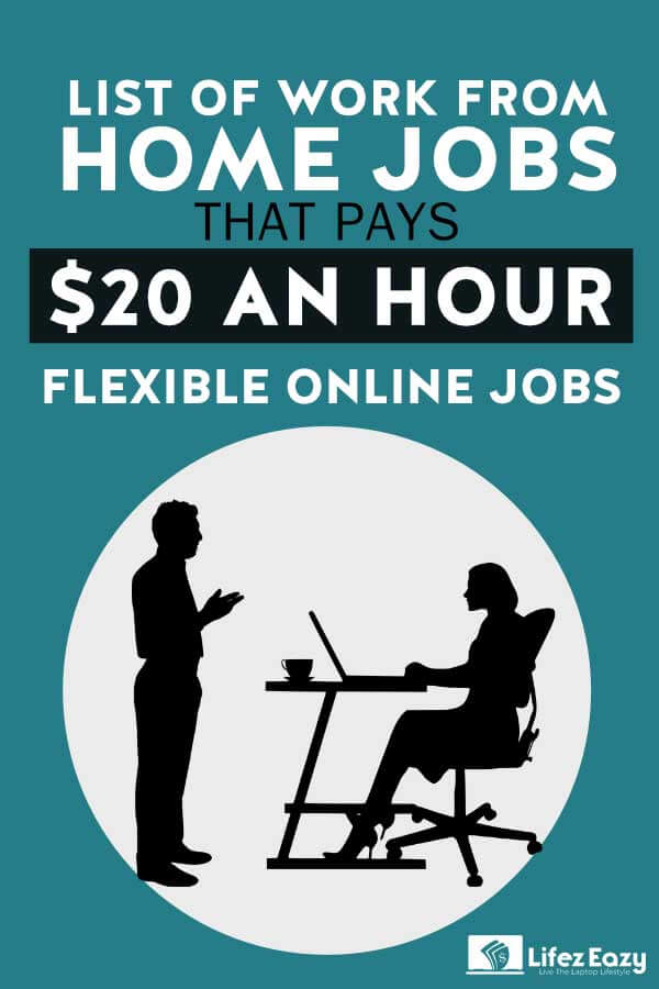 Work from home jobs paying $20 an hour Pin