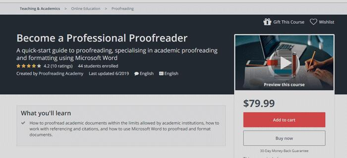 Become a Professional Proofreader Course