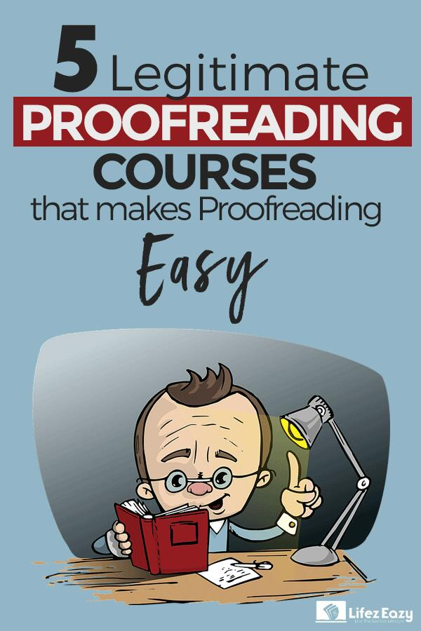 Best Online Proofreading Courses pin