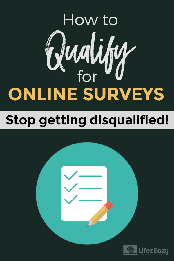 How to qualify for surveys