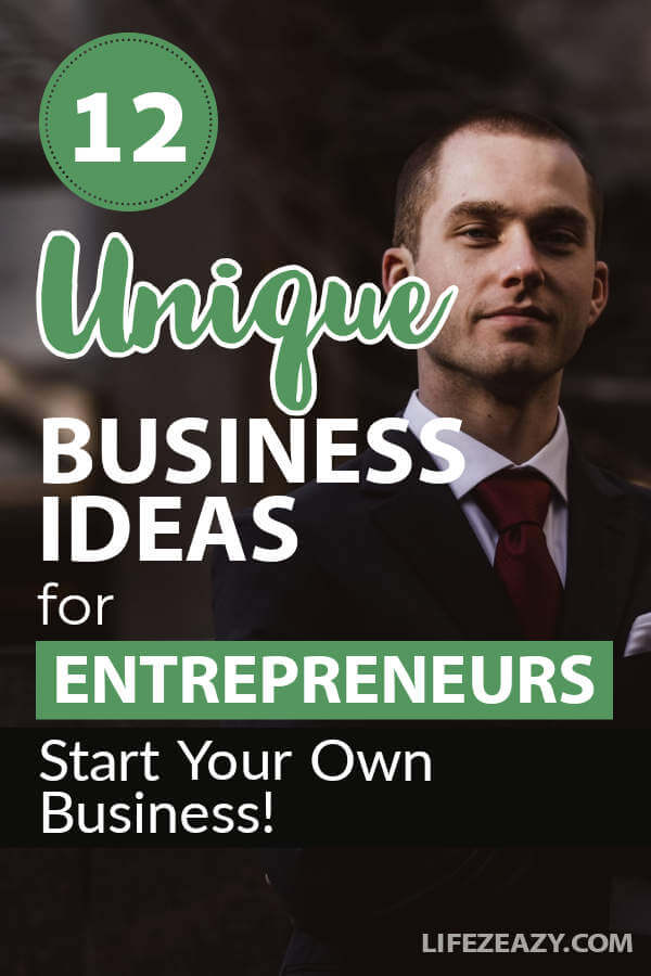 Unique Business Ideas Pin