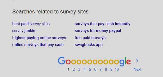 Google Search Related Keywords