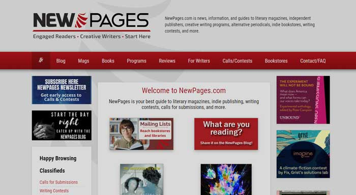 New Pages website