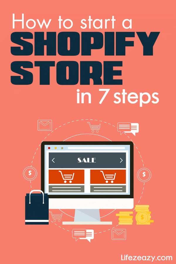 How to start a Shopify store Pinterest pin