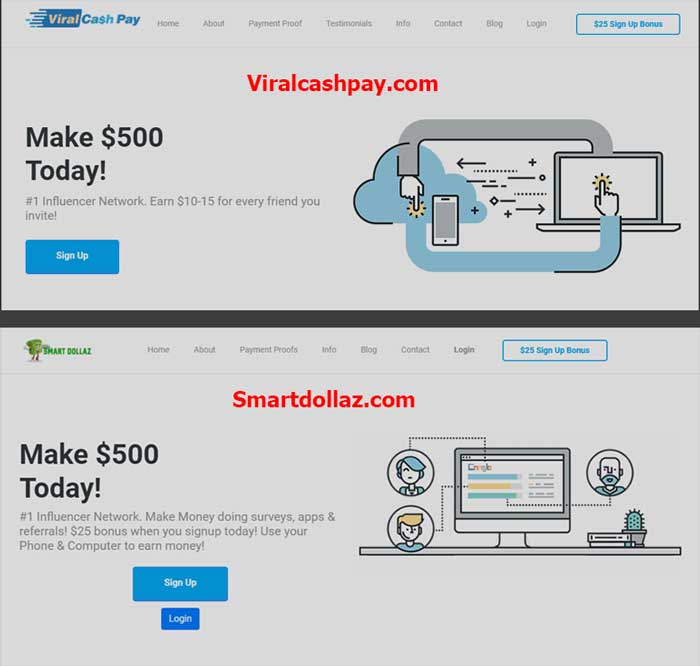 Snart Dollaz & Viral cash pay website
