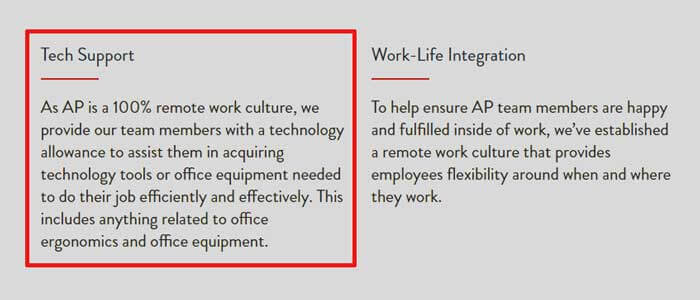 Work from home equipment provided by Acceleration Partners