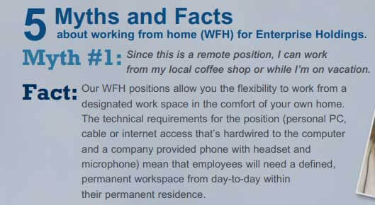 Work from home equipment provided by Enterprise Holdings