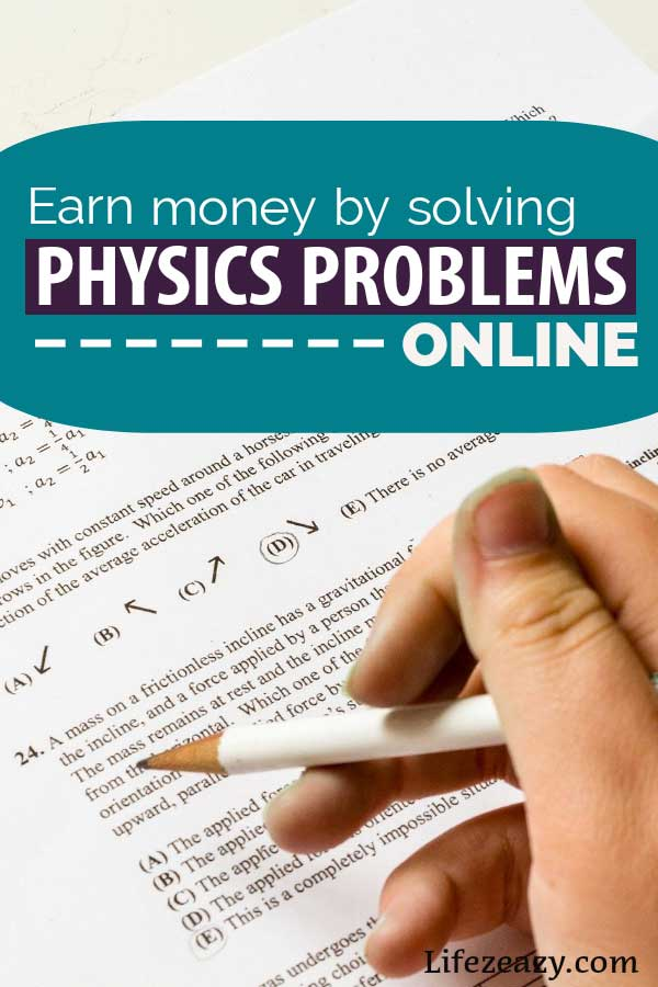 Earn money solving Physics problems online Pin