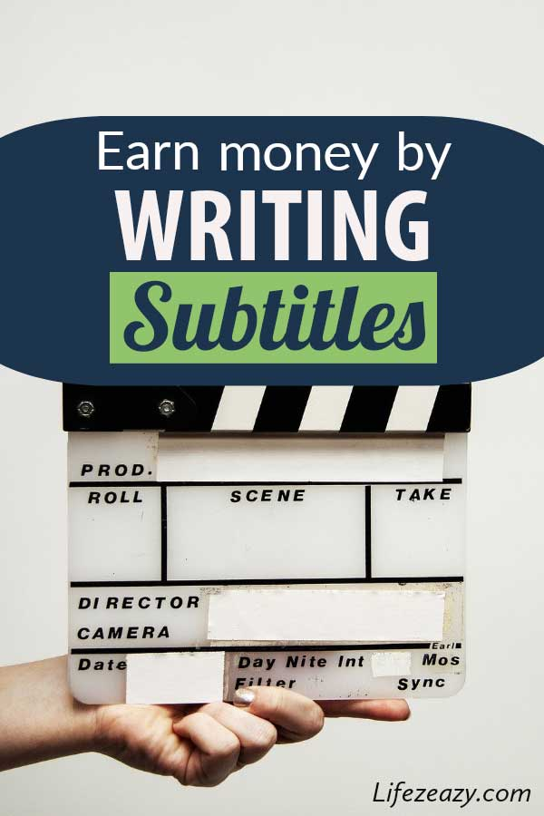 Earn Money By Writing Subtitles Pinterest pin