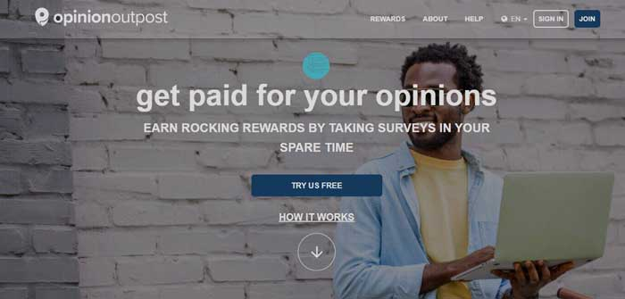 Opinion Outpost website
