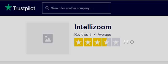 Trustpilot IntelliZoom rating
