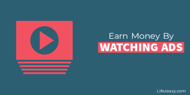 Earn money by watching ads blog post cover