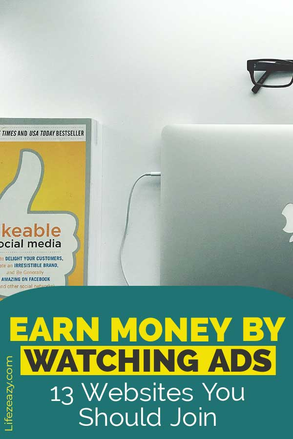 Earn money by watching ads Pinterest pin