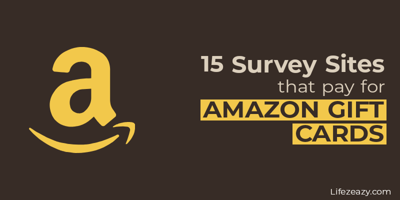Cover for the post Survey sites that pay for Amazon gift cards