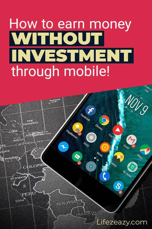 Pinterest pin for How to Earn Money Without Investment Through Mobile