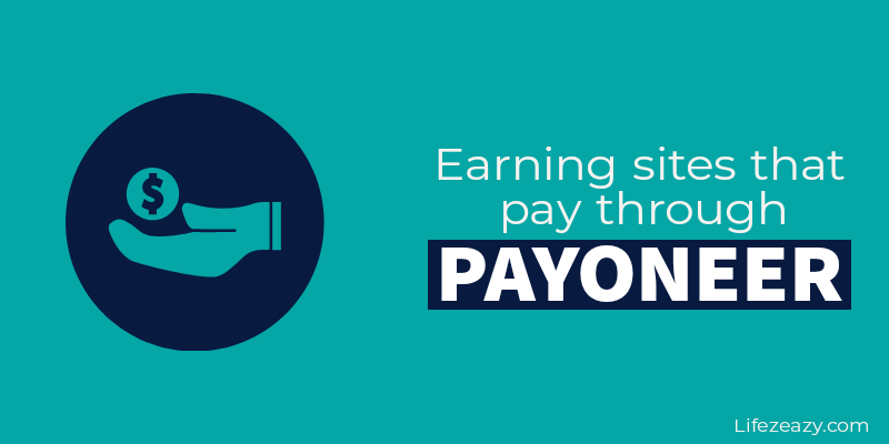 Cover for Earning sites that pay through Payoneer blog post