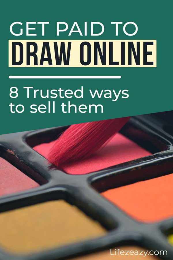 Pinterest pin for Get paid to draw online