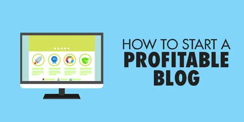Cover of how to start a profitable blog post