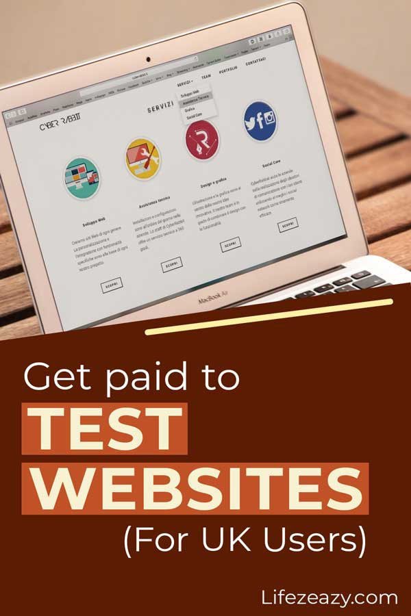 Pinterest pin for the post Get paid to test websites for UK users