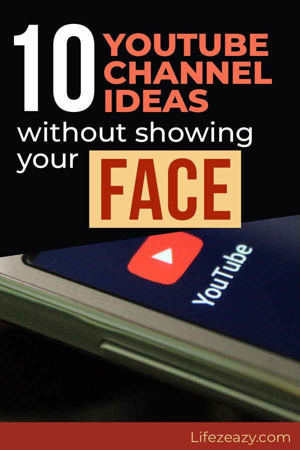 Youtube Channel Ideas Without Showing Your Face Pinterest pin